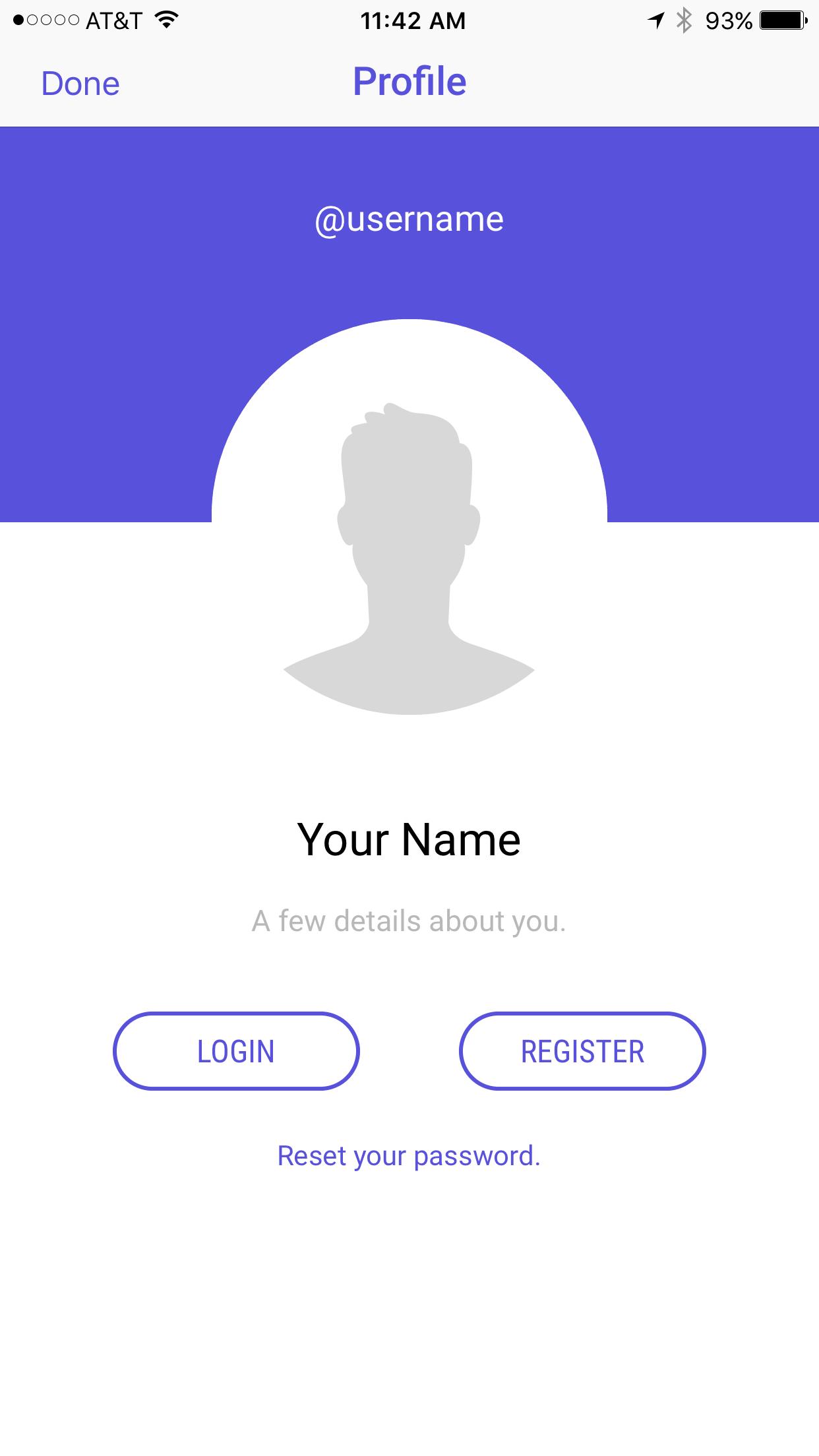 Spirit Buzz Profile Screen